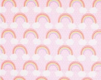 Girly rainbow squiggles reversible drool bib