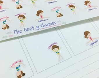 40 gymnastic planner sticker reminders great for all planners vertical  recollections filofax