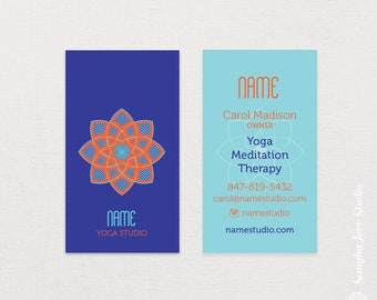 Yoga business card etsy yama yoga business card or wellness business card colourmoves