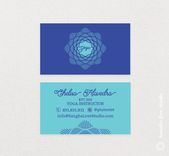 Shine yoga business card or wellness yoga business card etsy image 0 colourmoves