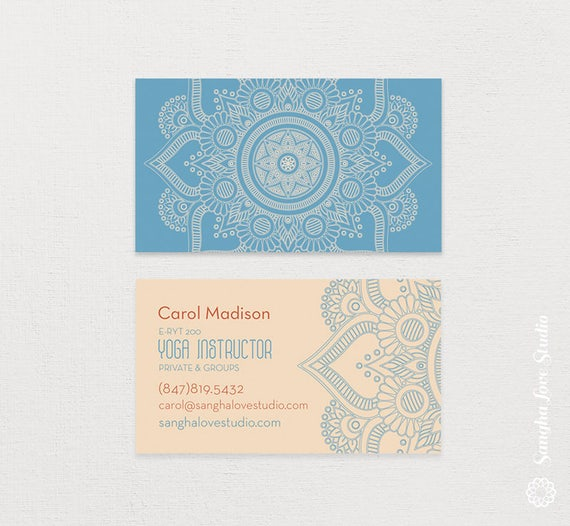 Yoga Lite Business Card Or Wellness Business Card Etsy