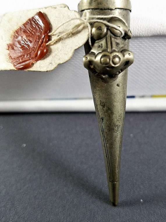 Antique Chinese Silver Fingernail Guard Qing Dynas