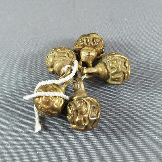 Antique Chinese Ch/'ing Qing Brass Robe Buttons ~ For ONE Button B