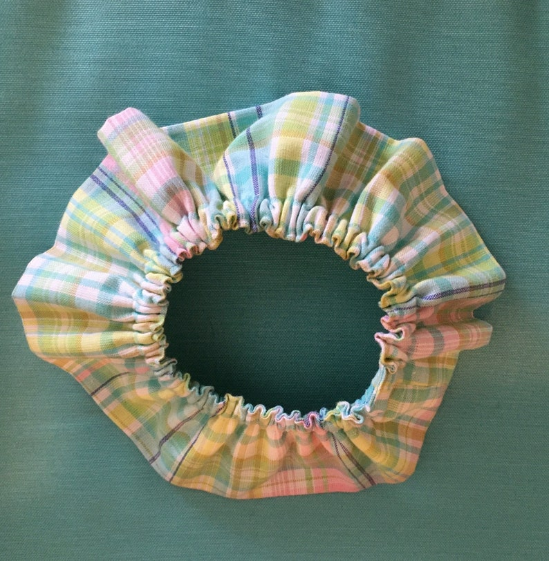 Handmade Pastel Tartan Ruffled Collar