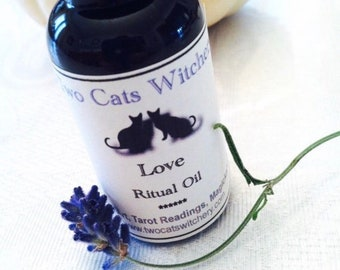 Love Ritual Oil with Dried Rose Petals, Bath Oil, Candle Anointing Oil, Spiritual Perfume Oil, Spell Oil, Handcrafted Kitchen Witchery