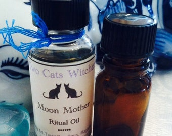 Moon Magick Oil | Moon Spell Oil | Moon Ritual Oil | Moon Mother Goddess Oil | All Natural | Hand Blended Witch Oil | Lunar Magic Witchcraft
