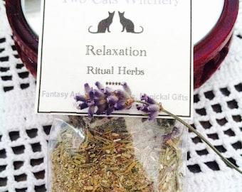 Hand Blended Spell Herbs, Ritual Herbs, Natural Herb Incense, Bath Ritual Herbs, Lavender Flowers for Bath, Herbal Mixture, Pagan Spa Day