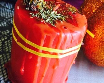 Autumn Candle, Fall Candles, Fall Season Decor, Handmade Candles, Harvest Candle, Pagan Candles, Pagan Home Decor, Ritual Candles, Magick