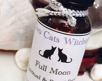 Full Moon Ritual Oil | Lunar Magick Oil | Moon Magic Spell Oil | Witchcraft Oils | Handcrafted Witch Oil Blends | Witchy Bath Pagan Oils