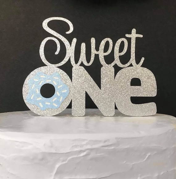 Sweet One Birthday Cake Topperfirst Birthday Cake Etsy