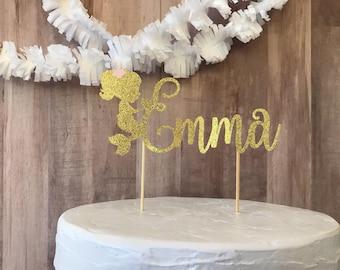 Custom name mermaid cake topper/mermaid party/mermaid birthday