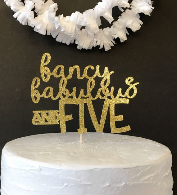 5th Birthday Cake Topper Party Custom