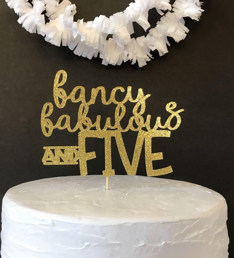 5th Birthday Cake Topper Party Custom