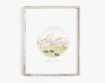 "Grand Teton 8x10"" Art Print"