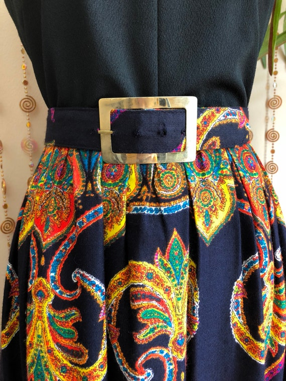 1970s Psychedelic Print Hippie Maxi Dress - image 6