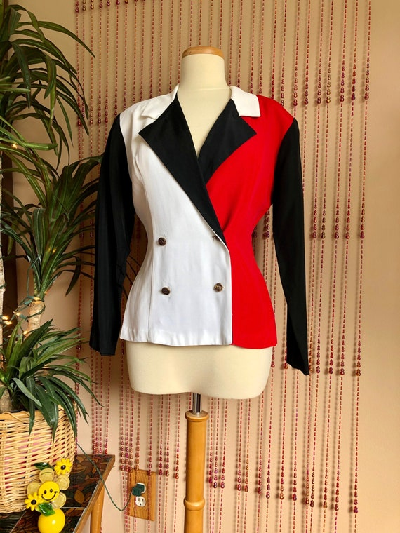 1990s Color Block Tailored Blazer