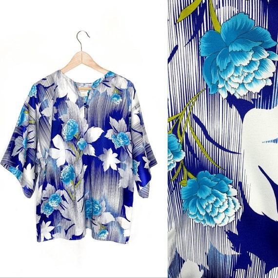 Vintage Hawaiian Kimono - Paradise Hawaii Kimono S