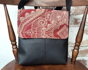 Crossbody PU leather handbags medium size with feature flap/ cross body/ shoulder/ bag/ purse / work office travel bag