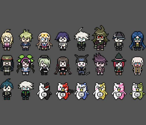 Danganronpa V3 Killing Harmony 8 Bit Perler Sprites Etsy Check out our ryoma hoshi selection for the very best in unique or custom, handmade pieces from our keychains shops. danganronpa v3 killing harmony 8 bit perler sprites