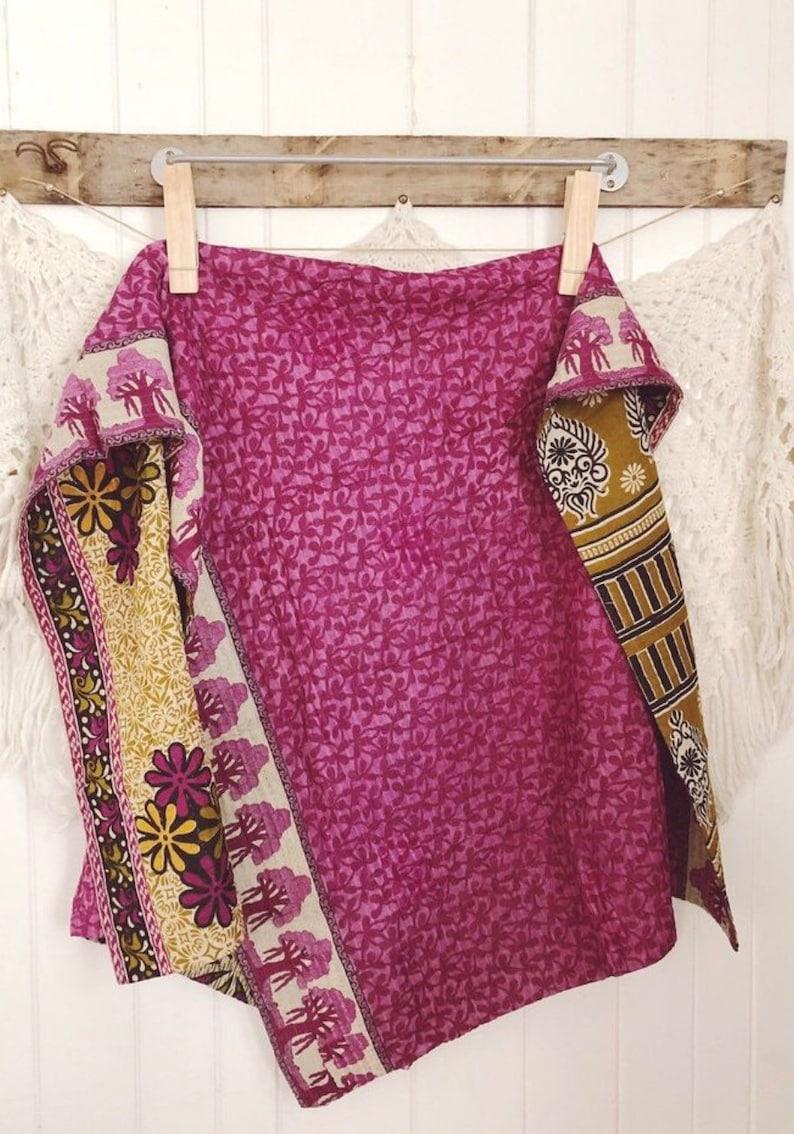 Vintage Kantha Quilt E06