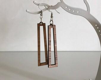 Walnut earrings pendants