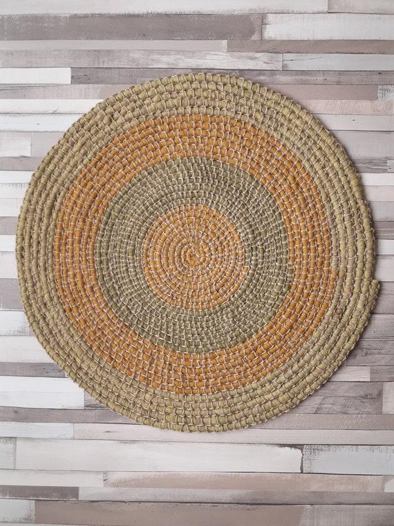 Häkeln runden Teppich Wolle und Jute Kinderzimmer Teppich | Etsy