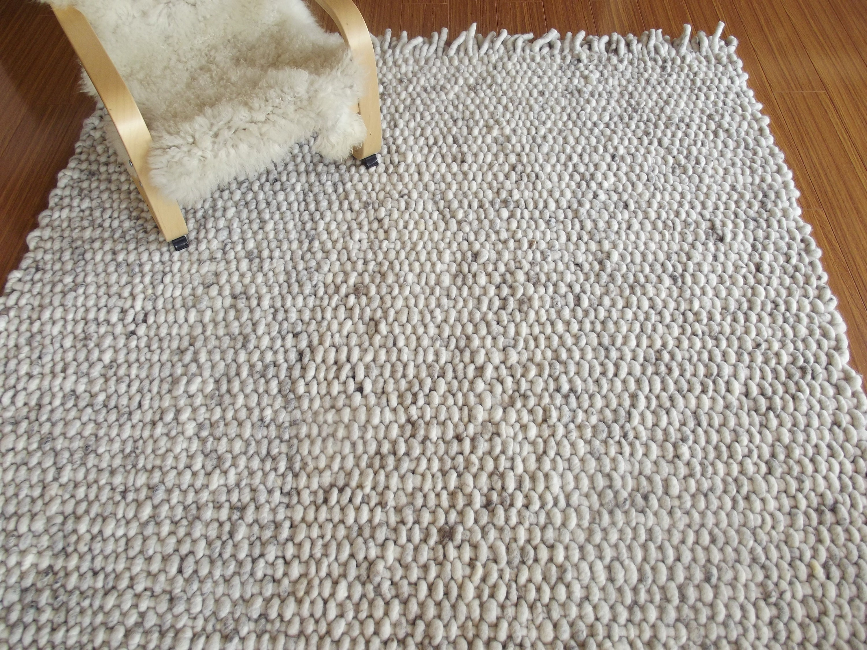 Hand Woven Wool Rug Super Chunky Pure Wool Wool Rug Woven Rug Area Rug 8x10 Living Room Rug Handmade Rug