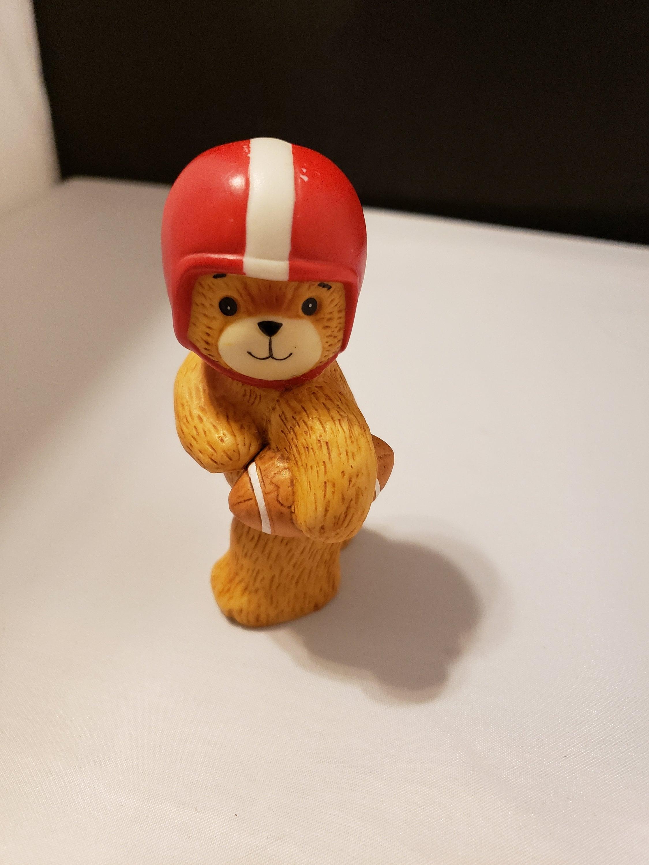 Enesco Lucy Rigg Ceramic Bear Football Red Helmet 1980 Lucy /& Me