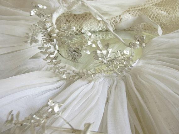Lovely antique bridal jewelry set, Tiara/Diadem/Cr