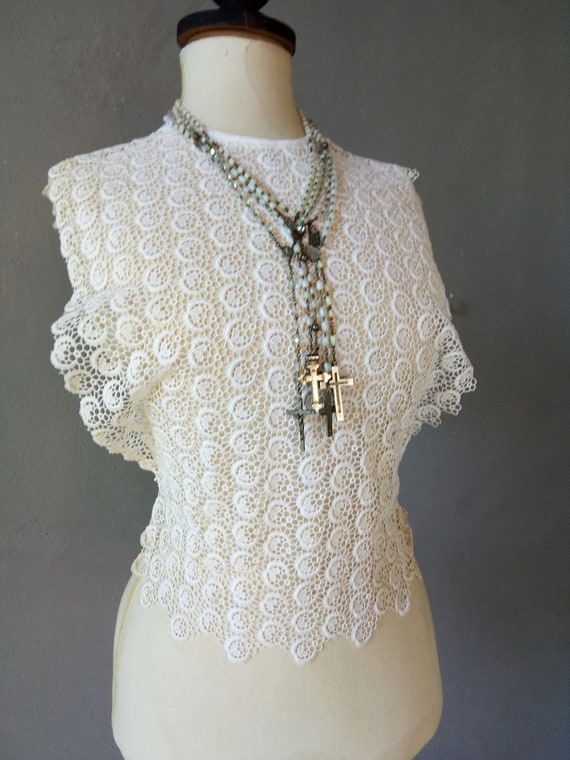 Antique french plastron, vest, corset, bodice, cor