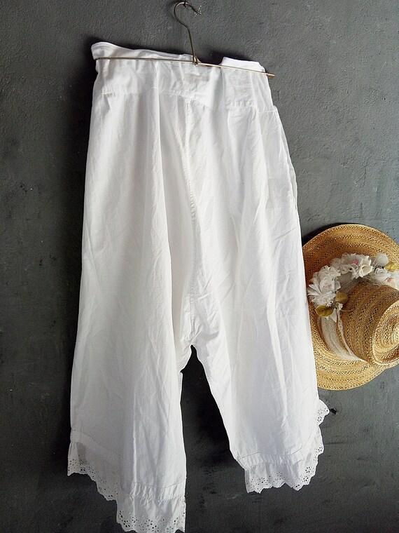Belle paire de blanc antiques français victoriens défaites, période sous-vêtements, ancien français, français vivant, shabby, boudoir... CHARMANT!