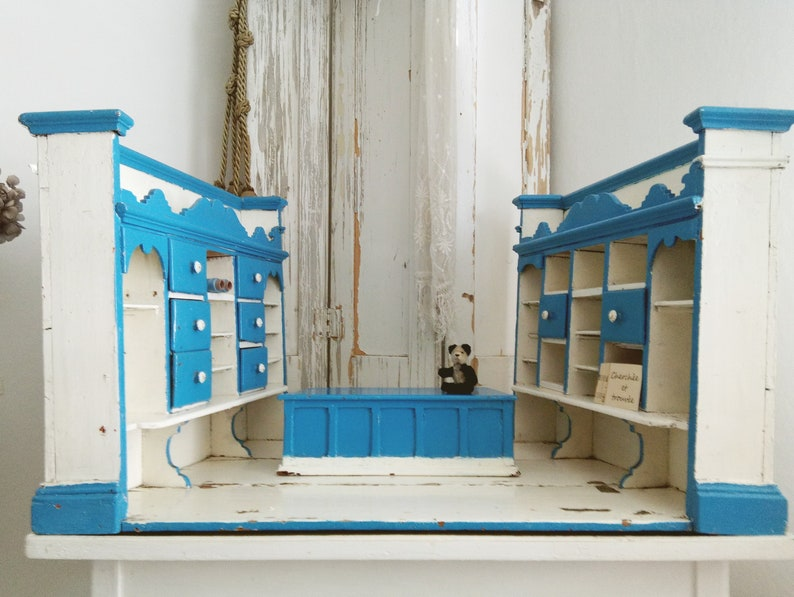 Magnificent Rare Large Antique Dollhouse Victorian Dollhouse Wooden Dollhouse Pharmacy Corner Shop Fabric Store Shop Display 1900 Charmant Download Free Architecture Designs Scobabritishbridgeorg