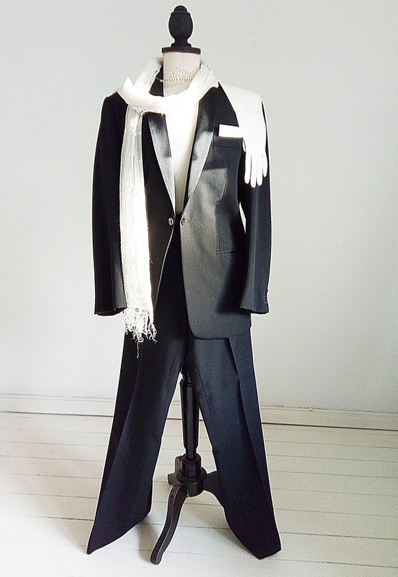 Vintage 50's men suit, tuxedo, wedding suit, forma