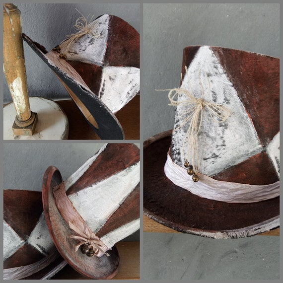 Antique Top Hat, Claque Hat, 1900, Circus Hat, Cos