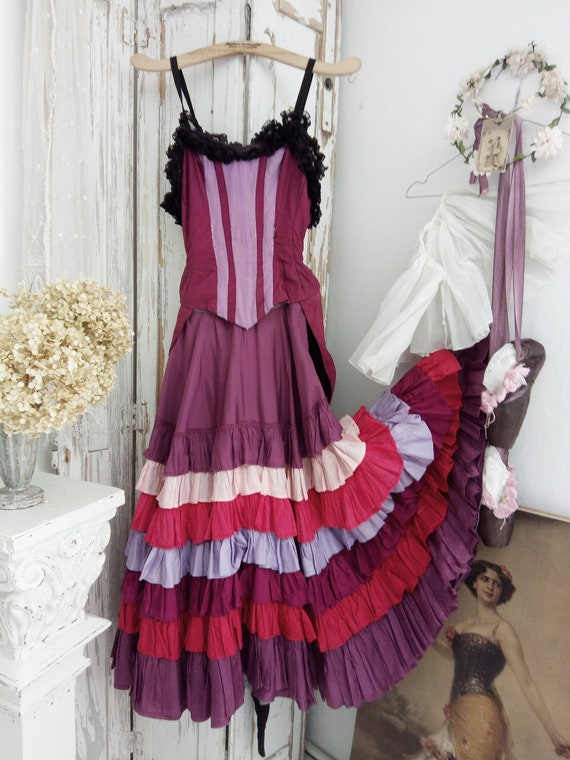 Unique vintage Can-Can Costume, Theatre Costume, o