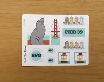 San Francisco sticker set for Erin Condren, Plum Paper, Filofax, Kikki K (DPD666)