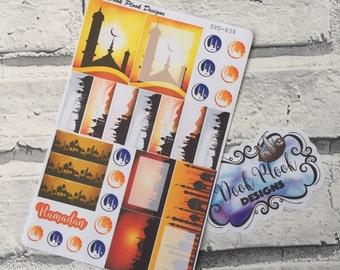 Ramadan stickers for Erin Condren, Plum Paper, Filofax, Kikki K (DPD639)