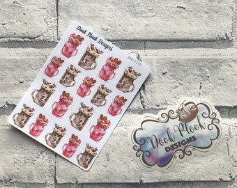 milkshake / ice cream stickers for various planners, Happy Planner, Passion Planner etc, TN planners etc (DPD1172)