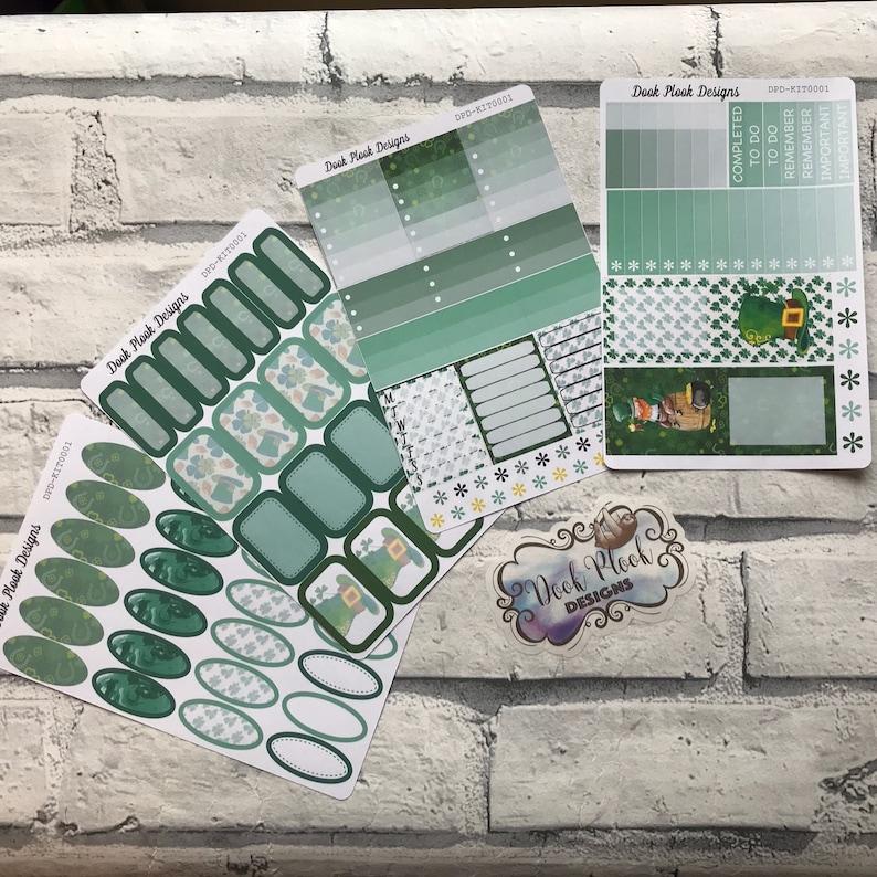 St patricks day  Kit for Erin Condren bujo KIT0011 planners etc