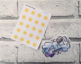 Sun stickers for Erin Condren, Plum Paper, Filofax, Kikki K (DPD745)