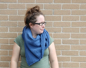 blueberry - lightweight organic cotton gauze scarf
