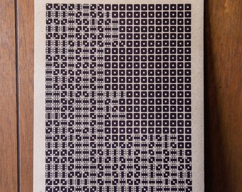 Eta Eridani Letterpress Dice Print on Chipboard
