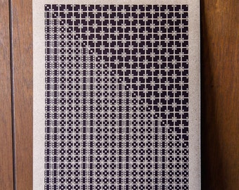 Gamma Eridani Letterpress Dice Print on Chipboard