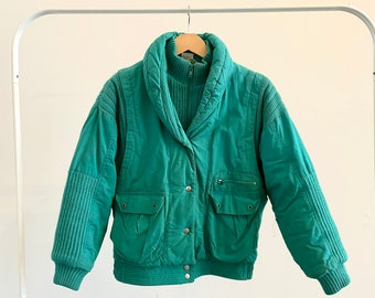 Gitano Outerwear Womens Size Large 80/'s Rad  Puffer Coat Hot Pink Teal Long Jacket