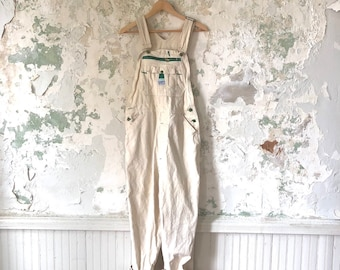 7969d6acf3 Vintage White Overalls - 1970s 70s Liberty Overalls S M 34 31 Coveralls  Jumper