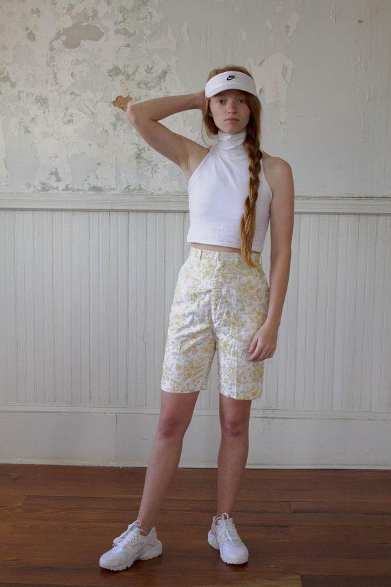 Vintage 1960s Shorts - 1960s 60s Floral Shorts Tro