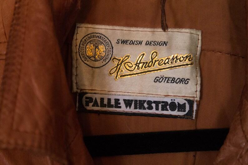 60s 70s 1970s Duster Long Coat Vintage Leather Coat Small Medium Long Jacket Swedish Spy Trench Coat Leather Jacket