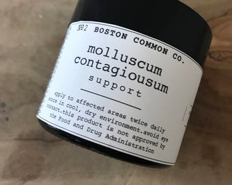 Molluscum contagiosum support cream / aid in treatment of molluscum