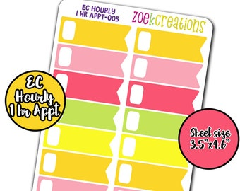 Strawberry Limeade, One Hour Label, EC Hourly, EC Hourly Stickers, Flag Stickers, EC Hourly Flag, Functional Stickers, Appointment