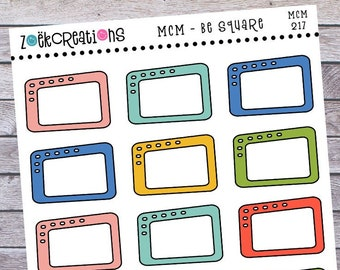 MCM 217, Mid Century Stickers, Mid Century Squares, MCM Stickers, Mcm Planner Stickers, Mid Century Designs, Planner Stickers, Mcm Items
